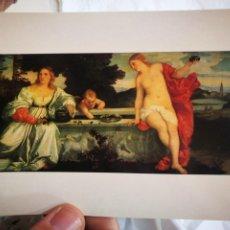 Postales: POSTAL TIZIANO 1490 - 1576 AMOR SACRO E AMOR PROFANO ROMA GALLERIA BORGHESE S/C. Lote 220569181