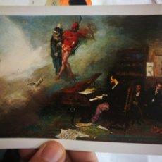 Postales: POSTAL M. FORTUNY 1838 - 1874 FANTASÍA SOBRE FAUSTO MUSEO DEL PRADO N 85 ESCUDO DE ORO S/C. Lote 220579826