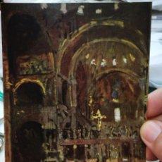 Postales: POSTAL WALTER SICKERT INTERIOR IF ST MARK' S,VENICE 1896 TATE GALLERY 5314. Lote 220650953