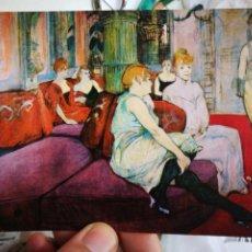 Postales: POSTAL H DE TOULOUSE LAUTREC SU SALÓN DE LA RUE DES MOULINE 1894 MUSEE D'ALBI N 179 N 1281 E ESCUDO. Lote 220651212