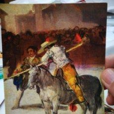 Postales: POSTAL GOYA 1746 - 1828 CORRIDA DE TOROS N 378 REAL ACADEMIA DE BRLLAS ARTES DE SAN FERNANDO MADRID. Lote 220654535