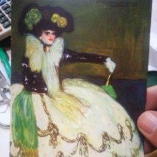 Postales: POSTAL PICASSO MUJER EN AZUL FRAGMENTO N 306 B MUSEO DE ARTE CONTEMPORÁNEO DOMÍNGUEZ RAMOS CON ARRUG. Lote 220671412