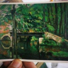Postales: POSTAL PAUL CEZANNE 1839 - 1906 LE PONT DE MAINCY MUSEO DEL LOUVRE IMPRESIONISMO N 56 BRAUN 1963 S/C. Lote 220688397