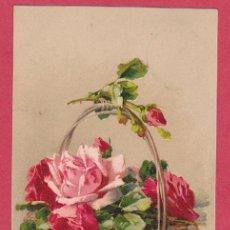 Postales: AC938 FLOR FLORES ROSAS EN UNA CESTA DE MIMBRE. Lote 220710252