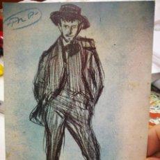 Postales: POSTAL PICASSO EL DIBUJANTE RICARDO OBISPO 1900 COLECCIÓN PARTICULAR BARCELONA N 265 LA POLIGRAFA S/. Lote 220935391