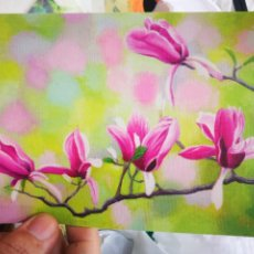 Postales: POSTAL ORQUÍDEAS JIN HYUN DONG PINTOR CON LA BOCA S/C. Lote 220940692