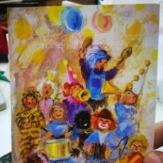 Postales: POSTAL FIESTA DE DISFRACES RUTH CHRISTENSEN PINTORA CON LA BOCA. Lote 221285233