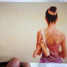 Postales: POSTAL BAILARINA JEONG PARK PINTOR CON LA BOCA S/C. Lote 221285433