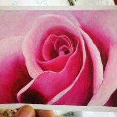 Postales: POSTAL ROSA MARÍA HUPPI PINTORA CON LA BOCA S/C. Lote 221288388