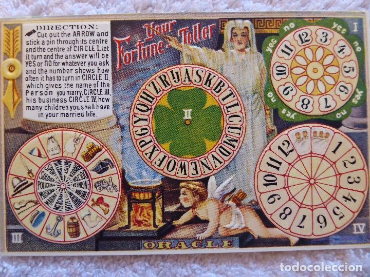 P-11573. EL ORACULO DE LA FORTUNA. YOUR FORTUNE TELLER. B. SHACKMAN&CO. INC. PRINTED IN HONG-KONG (Postales - Postales Temáticas - Dibujos originales y Grabados)