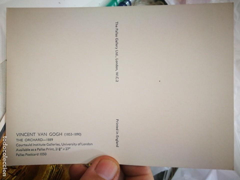 Postales: Postal VINCENT VAN GOGH 1853 - 1890 The Orvhard 1889 PALLAS POSTCARD 1050 England S/C - Foto 2 - 222053967