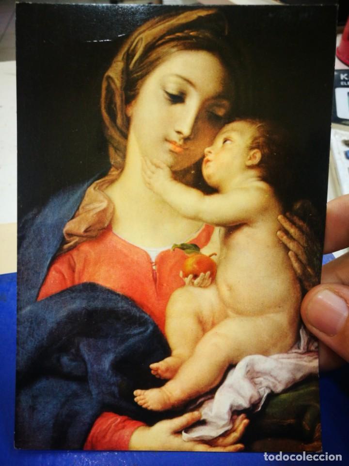 POSTAL POMPEO BATONI 1708 - 1787 MADONNA COL BAMBINO ROMA GALLERIA BORGHESE S/C (Postales - Postales Temáticas - Dibujos originales y Grabados)