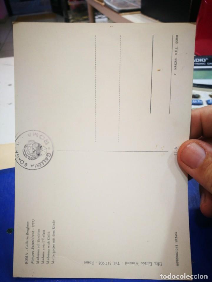 Postales: Postal POMPEO BATONI 1708 - 1787 Madonna Col Bambino ROMA GALLERIA Borghese S/C - Foto 2 - 222056430