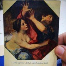 Postales: POSTAL CARLO CIGNANI JOSEPH UNE POTIPHARS WEIB DRESDEN A ESTADO PEGADA. Lote 222059940