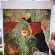 Postales: POSTAL HENRI DE TOULOUSE LAUTREC 1864 - 1901 LA CHAMBRE SEPAREE 1899 COURTAULD INSTITUTO GALLERIES U. Lote 222070677
