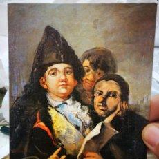 Postales: POSTAL FRANCISCO GOYA Y LUCIENTES MANOLITO GUASQUEZ ET LE TONTO DE CORIA MUSEE BONNAT BAYONNE ESCRIT. Lote 222071758
