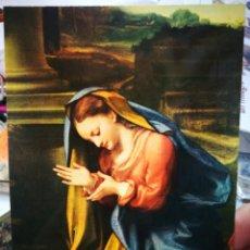 Postales: POSTAL ANTONIO ALLEGRI IL CORREGGIO 1494 - 1534 LA VERGINE ADORA OK BAMBINO FIRENZE GALLERÍA UFFIZI. Lote 222110436