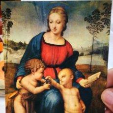 Postales: POSTAL RAFFAELLO SANZIO O SANTI URBANO 1483 - ROMA 1520 LA MADONNA DEL CARDELLINO FIRENZE GALLERÍA U. Lote 222114387