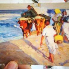 Postales: POSTAL JOAQUÍN SOROLLA BASTIDA 1863 - 1923 SACANDO LA BARCA 1916 COLECCIÓN PONS SOROLLA MADRID N 14. Lote 222120033