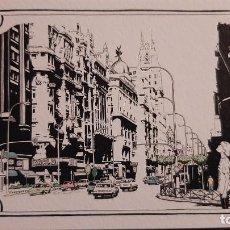 Postales: POSTAL DIBUJO GRAN VIA MADRID P620. Lote 222274796