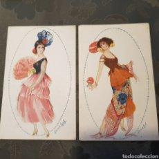 Postales: 2 POSTALES ROMERO DE AYALA- GOYESCAS N.130 Y 139 SIN CIRCULAR.. Lote 222543226