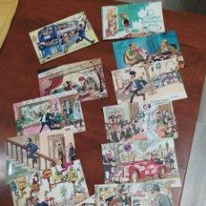Postales: ANTONIO MINGOTE COLECCIÓN DE 12 POSTALES EDITADAS POR LOTERÍA NACIONAL.1970. Lote 224016008