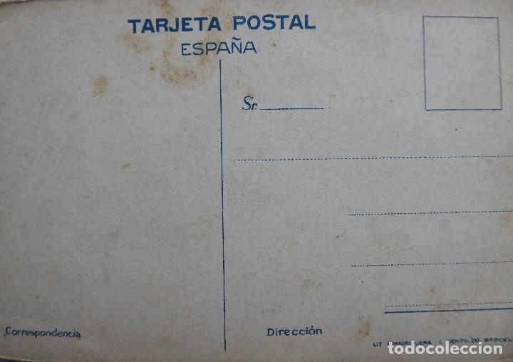 Postales: P-12071. EL DOS DE MAYO.(SOROLLA) LIT. R. MADRIGUERA. BARCELONA. COLOREADA. AÑOS 20. NO CIRCULADA. - Foto 2 - 230606385