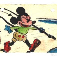Postales: MICKEY MOUSE - POSTAL ÚNICA PINTADA A MANO - AÑO 1938 - 132X84. Lote 245653020