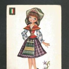 Postales: POSTAL SIN CIRCULAR DIBUJO - TRAJES EUROPEOS ITALIA 3043/7 - EDITA ESCUDO DE ORO. Lote 246045295