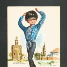 Postales: POSTAL SIN CIRCULAR DIBUJO - BAILE ANDALUZ 208 - EDITA SAVIR. Lote 246045695