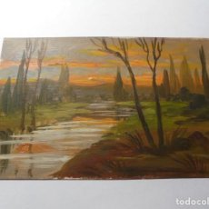 Postales: MAGNIFICA ANTIGUA POSTAL PINTADA AL OLEO FECHADA EN 1916. Lote 246339395
