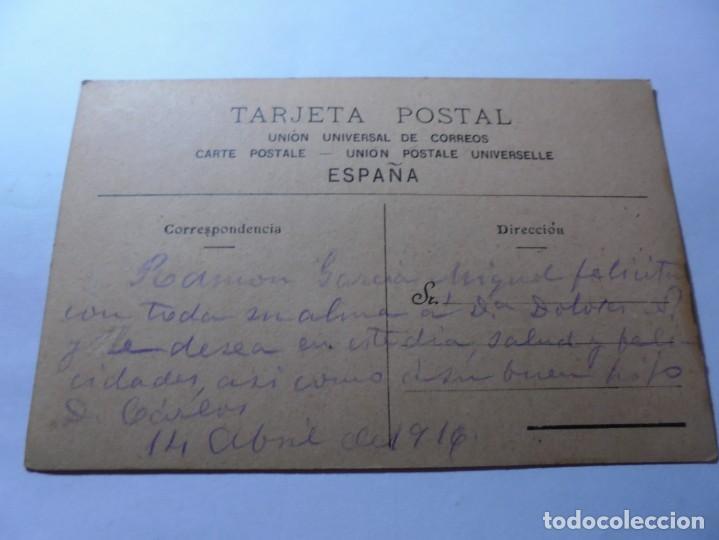 Postales: magnifica antigua postal pintada al oleo fechada en 1916 - Foto 2 - 246339395
