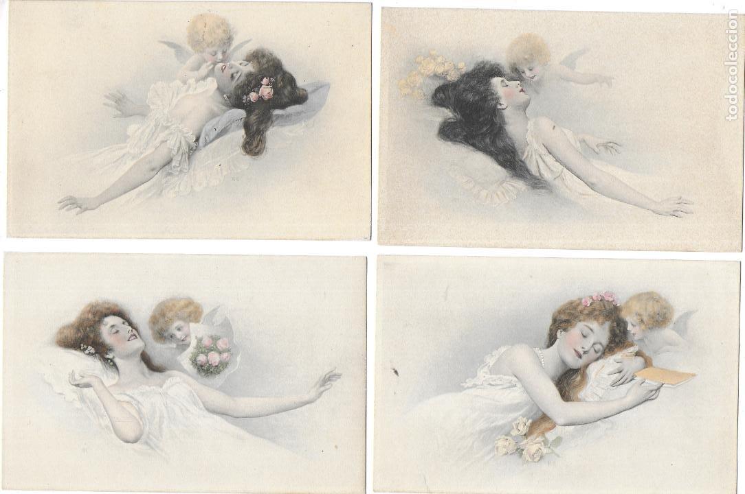 Postales: P-12538. LOTE DE 12 POSTALES ILUSTRACIONES DAMAS. M.M.VIENNE. PRINCIPIOS S.XX. - Foto 9 - 253282050