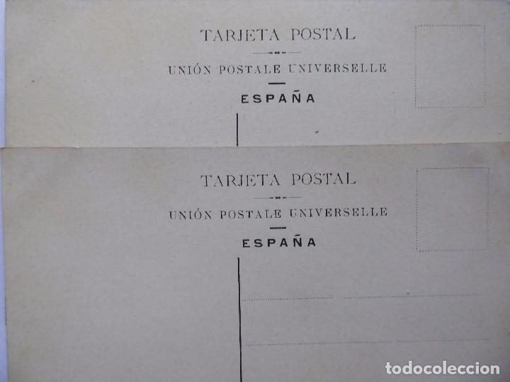 Postales: P-12608. JARRONES CON RAMOS DE FLORES. 2 POSTALES PRINCIPIOS SIGLO XX. COLOREADAS. NO CIRCULADAS - Foto 4 - 253578270
