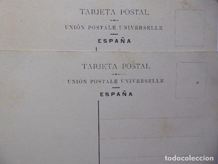 Postales: P-12609. JARRONES CON RAMOS DE FLORES. 2 POSTALES PRINCIPIOS SIGLO XX. COLOREADAS. NO CIRCULADAS - Foto 4 - 253578550