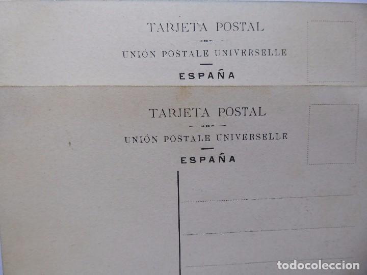 Postales: P-12610. JARRONES CON RAMOS DE FLORES. 2 POSTALES PRINCIPIOS SIGLO XX. COLOREADAS. NO CIRCULADAS - Foto 4 - 253578745