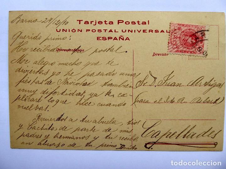 Postales: P-12615. REMO. DIBUJO DE VICENÇ BRUNET. COLECCIÓN SPORT. CIRCULADA. AÑO 1910 - Foto 3 - 254019580