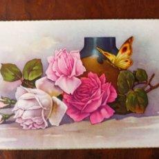 Postales: POSTAL FLORES 1956 ESCRITA SIN SELLO. Lote 257956300