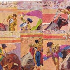 Postales: TAUROMAQUIA COLECCION COMPLETA 10 POSTALES TOREROS CELEBRES ILUSTRADOR RUANO LLOPIS. Lote 261975105
