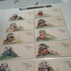 Postales: 10 TARJETAS FELICIDADES, REGIONES DE ESPAÑA. Lote 262108110