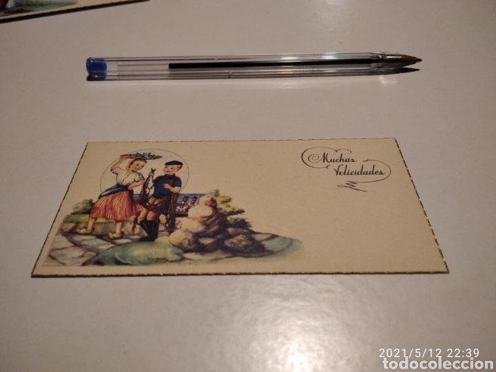 TARJETA MUCHAS FELICIDADES (Postales - Postales Temáticas - Dibujos originales y Grabados)