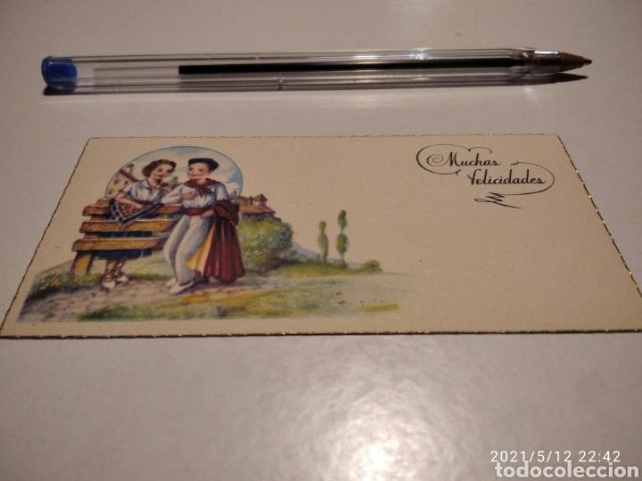 MUCHAS FELICIDADES TARJETA (Postales - Postales Temáticas - Dibujos originales y Grabados)