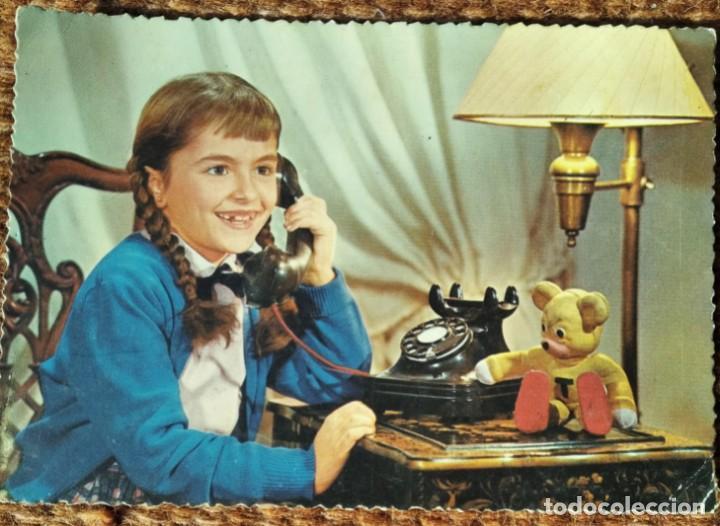 NIÑA AL TELEFONO (Postales - Postales Temáticas - Dibujos originales y Grabados)