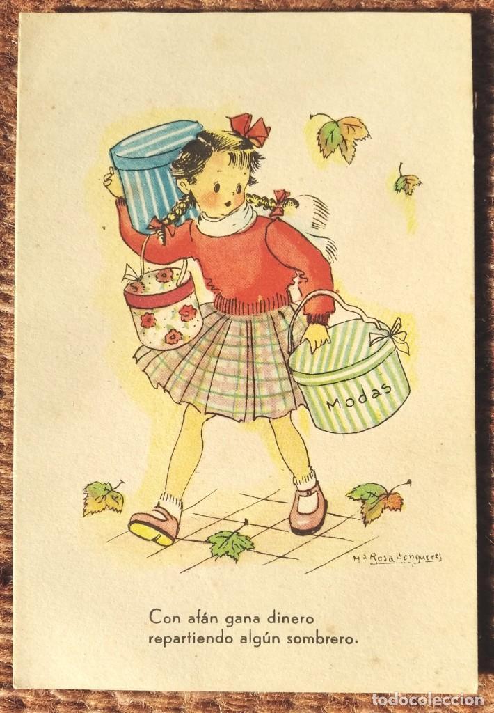 CON AFAN GANA DINERO...ILUSTRACION Mª ROSA LLONGUERES - JBR SERIE 43 (Postales - Postales Temáticas - Dibujos originales y Grabados)