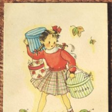 Postales: CON AFAN GANA DINERO...ILUSTRACION Mª ROSA LLONGUERES - JBR SERIE 43. Lote 263238920