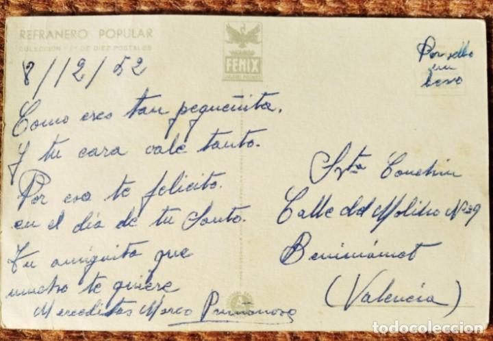 Postales: EL COMER Y RASCAR...REFRANERO POPULAR - EDITORIAL ARTIGAS - Foto 2 - 263239545