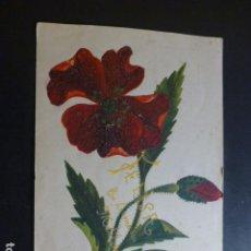 Postales: FLORES POSTAL PINTADA A MANO 1909. Lote 265409714