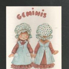 Cartoline: POSTAL SIN CIRCULAR DIBUJO HOROSCOPO GEMINIS EDITA CYZ 6002-B. Lote 265481089