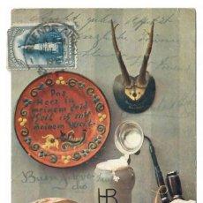 Cartes Postales: NATURALEZA MUERTA - CIRCULADA EN 1910 - SELLO DE ARGENTINA. Lote 266006828
