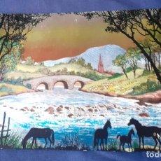 Postales: POSTAL DE REFLEJOS METALIZADOS DE LOS AÑOS 50, SIN CIRCULAR. Lote 267057384